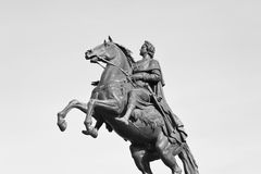 Bronze Horseman in St. Petersburg. Royalty Free Stock Images