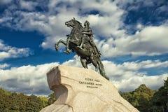 Bronze Horseman, St. Petersburg , Russia. Peter the Great monument, the Bronze Horseman, St. Petersburg Russia Stock Photos