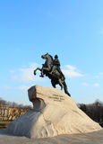 The Bronze Horseman. St.Petersburg, Russia. Royalty Free Stock Photo