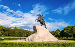 The Bronze Horseman, a statue of Peter the Great in Saint Peters Royalty Free Stock Photos