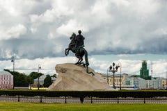 Bronze horseman Stock Image