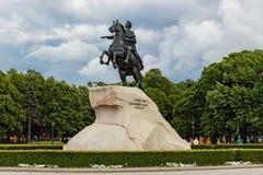 Bronze horseman Royalty Free Stock Image