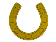 Bronze horseshoe Stock Images