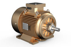 Bronze industrial electric motor Royalty Free Stock Photo
