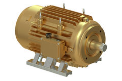 Bronze industrial electric motor Royalty Free Stock Images