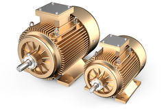 Bronze industrial electric motors Royalty Free Stock Image