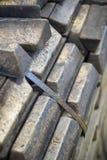 Bronze ingots stock photo
