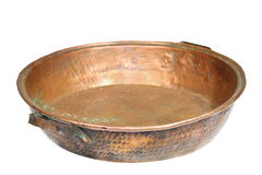 Bronze isolated cauldron Royalty Free Stock Image