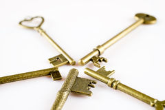 Bronze keys Royalty Free Stock Image
