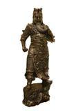 bronze kinesisk statykrigare Arkivbild