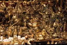 bronze kinesiska souvenir Arkivbild