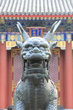 Bronze-Kirin, Sommer-Palast, Peking Stockfotos