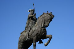 Bronze knight. On a horse Royalty Free Stock Image