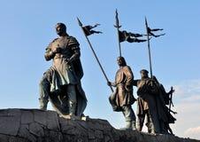 Bronze Knights from german saga Stock Photos