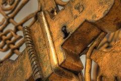 bronze lås Arkivfoton