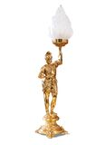 Bronze lamp. As statue carries a fire. clipping paths Stock Photography