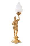 bronze lampa Arkivbild