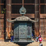 Bronze Lantern in front of Todaiji Temple Stock Photos