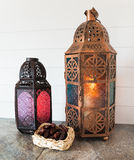 Bronze Lanterns with Dates Royalty Free Stock Image