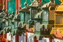 Bronze lanterns at Kasuga Taisha in Nara Royalty Free Stock Images