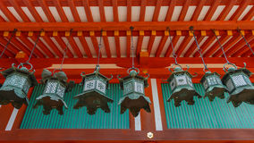 Bronze lanterns at Kasuga Taisha in Nara Stock Photos