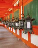 Bronze lanterns at Kasuga Taisha in Nara Stock Photo