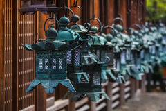 Bronze lanterns at Kasuga Taisha in Nara Royalty Free Stock Photography