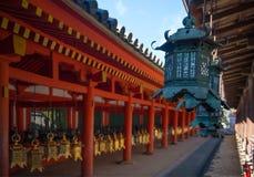 Bronze Lanterns at Kasuga Taisha Shrine Royalty Free Stock Photos
