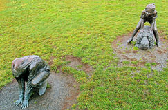 Bronze Leapfroggers Stock Images
