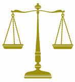 Bronze libra icon symbol balance . Royalty Free Stock Photo