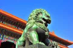 The Bronze Lion Royalty Free Stock Images