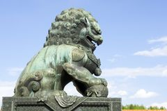 Bronze lion Stock Photos