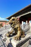 A bronze lion Stock Photo