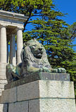 Bronze lion,Cape Town, South Africa. Stock Images