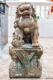 Bronze lion in chinese temple Stock Image