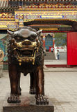 Bronze lion in Dazhao Temple, Hohhot, Inner Mongolia Stock Image