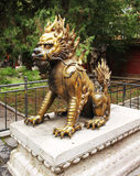 Bronze lion in Forbidden City Stock Image