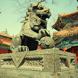 Bronze lion in Lama Temple (Beijing, China) Stock Photography