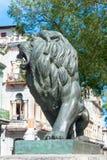 Bronze Lion at Paseo del Prado in Old Havana Royalty Free Stock Photos