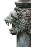 Bronze lion's head isolated Stock Photography