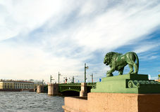 Bronze lion, Saint-Petersburg Royalty Free Stock Photography