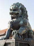 Bronze Lion Statue Royalty Free Stock Photography