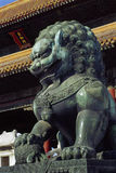 Bronze Lion Statue Stock Images