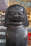 Bronze lion statue. In Grand Palace,Bangkok,Thailand Stock Photo