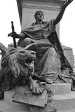 Bronze lion statue. Royalty Free Stock Photos