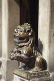 Bronze lion statues Stock Photo