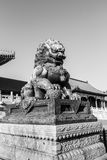 Bronze lions in the imperial palace Royalty Free Stock Photos