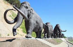 Bronze mammoths Royalty Free Stock Image