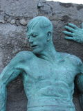 Bronze man Stock Photography