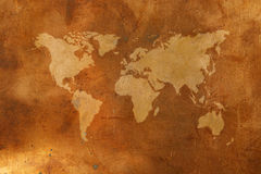 Bronze map Royalty Free Stock Photos
